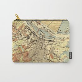Vintage Map of Savannah Georgia (1942) Carry-All Pouch