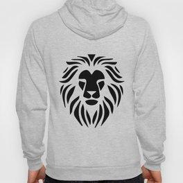 Lion Warrior drawing black T-shirt Hoody