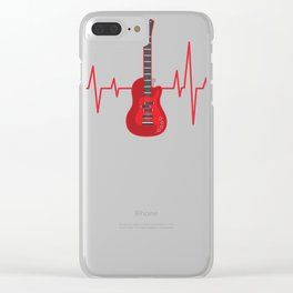 Bass Guitar, Bass Player Heartbeat Clear iPhone Case