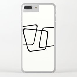 Simply Minimal - Black and white abstract Clear iPhone Case