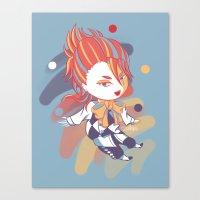 kuroshitsuji Canvas Prints featuring Kuroshitsuji: Little Joker by El Cadejos