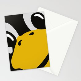 Linux tux Penguin eyes Stationery Cards