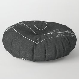 Les Vagues Floor Pillow