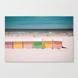 Beach Cabins North Sea Canvas Print