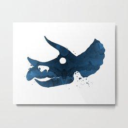 Triceratops skull Metal Print