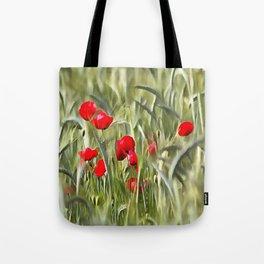 Corn Poppies Tote Bag