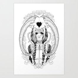 Tears, Skull and a broken Heart Art Print