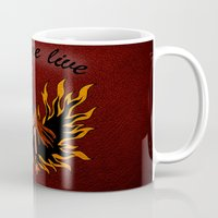 resident evil Mugs featuring Resident Evil Claire Redfield Jacket by KeenaKorn