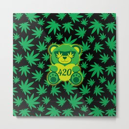 420 Teddy Bear Metal Print
