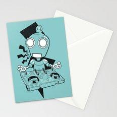 Robot DJ Stationery Cards
