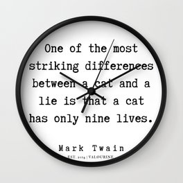 65    | Mark Twain Quotes | 190730 Wall Clock