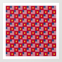 Mix of flag: usa and vietnam Art Print