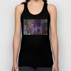 DropArt collage Unisex Tank Top