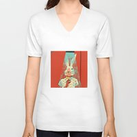 cocktail V-neck T-shirts featuring Cocktail by Roland Lefox