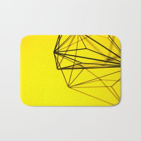 Yellow shape Bath Mat