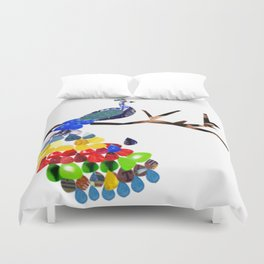 pavo real Duvet Cover