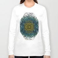 geode Long Sleeve T-shirts featuring Geode Abstract 01 by Charma Rose