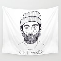 cactei Wall Tapestries featuring Chet Faker by ☿ cactei ☿
