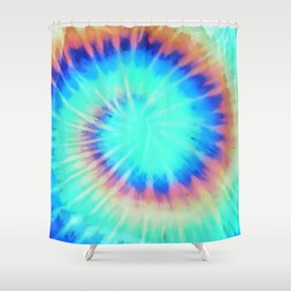 Electric Neon 90s Print Shower Curtain