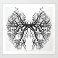 lungs Art Prints featuring Lungs by Arturo Navarrete