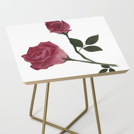 Mystical Maroon Rose Side Table
