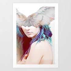 The messenger Omega Art Print