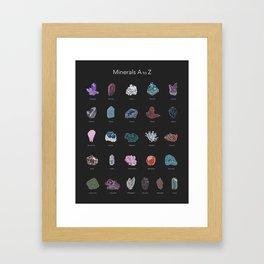 Minerals A-Z Framed Art Print