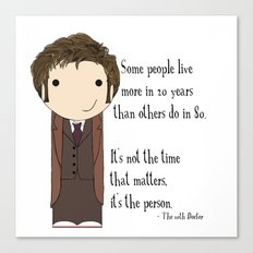 Doctor Who: It's Not the Time That Matters Canvas Print