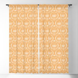 Queen Bee - Royal Crown in Honey Orange Blackout Curtain