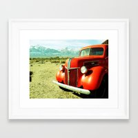 ford Framed Art Prints featuring FORD by JordanStempsonPhoto