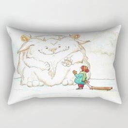 A Friendly Snow Monster Rectangular Pillow