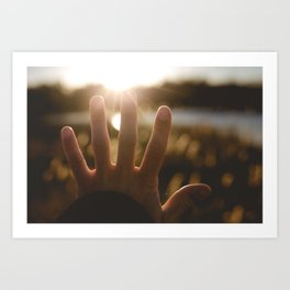 Motivation of the Day. || Reach for Your Dreams. || Sunny Days, Latvia. Art Print