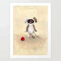 I'm A Dog! Woof! Art Print