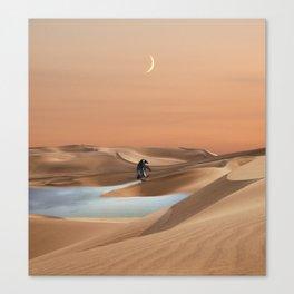 Waddle through Global Warming Canvas Print