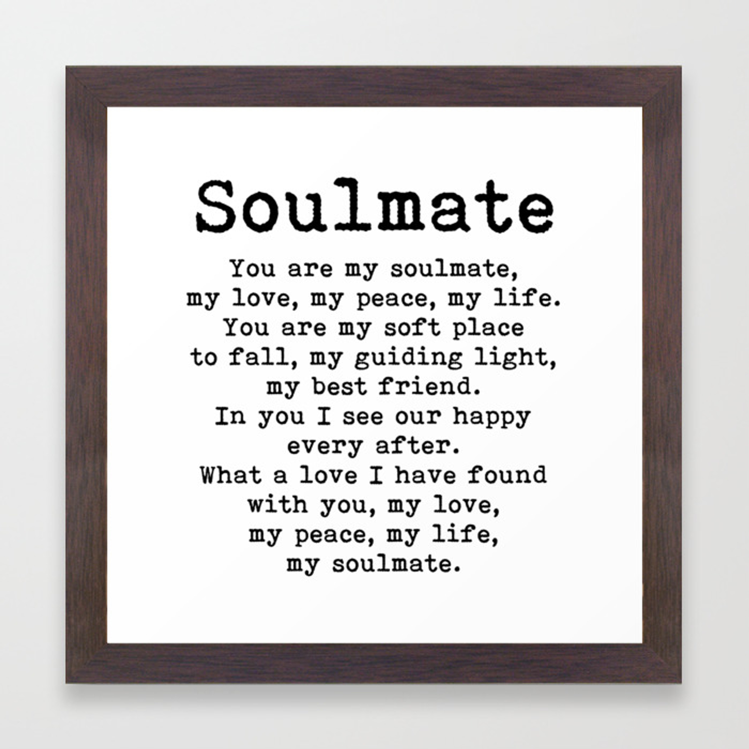 You are my soulmate poem