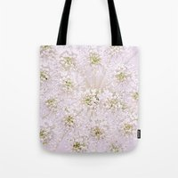 lace Tote Bags featuring Lace by Jacky Parker Floral Art
