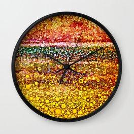 Sunny Flower Fields Wall Clock