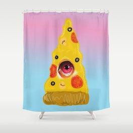 Pizza Eye Shower Curtain