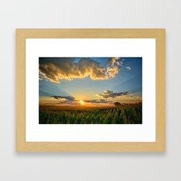 Iowa Corn Fields Framed Art Print