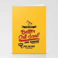 better call saul Stationery Cards featuring Better Call Saul by Krikoui