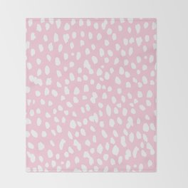 Dalmation in pink and white Throw Blanket