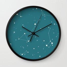 Emerald Night Sky Wall Clock