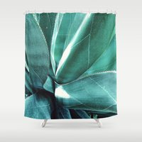 cactus Shower Curtains featuring Cactus by Alexandra Str