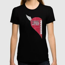 Derby Wife for Life - left side heart T-shirt