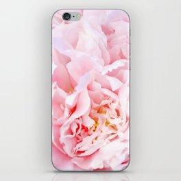 Peony Flower Photography, Pink Peony Floral Art Print Nursery Decor A happy life - Peonies 3 iPhone Skin