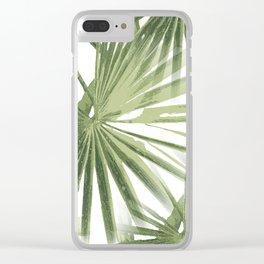 Tropical Beach Palm Vector Clear iPhone Case