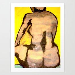 Head, Back and Body Art Print