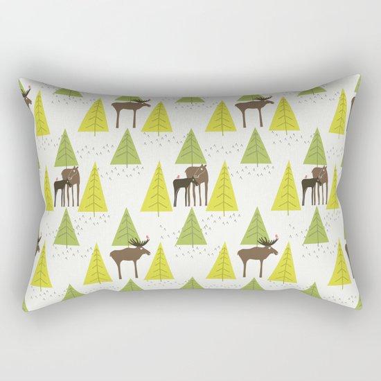 Moose Family 3 Rectangular Pillow