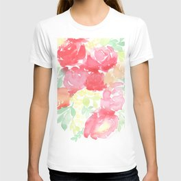 Red Blooms with Wattle T-shirt