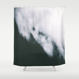 Forest Fog XIII Shower Curtain